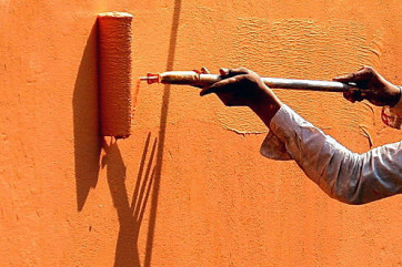Способы окрашивания стен