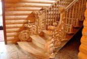 Деревянные лестницы в интерьере современного дома