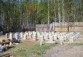 Столбчатый фундамент для небольших сооружений