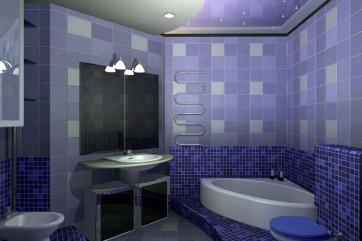 Отделка ванной комнаты кафельной плиткой