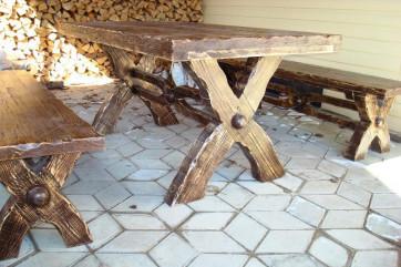 Мебель для дачи из сосны, металла и пластика