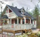 Производство домов из клееного бруса: финская технология