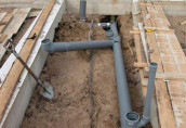 Изготовление канализации в бане в домашних условиях