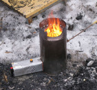 Как сделать печь на солярке