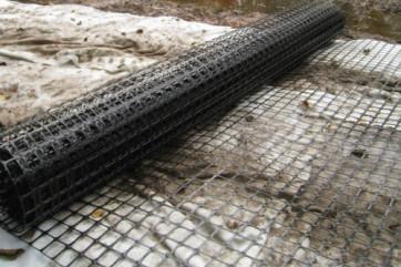 Использование геосетки в строительстве дорог