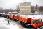 Необходимость вывоза снеговых завалов