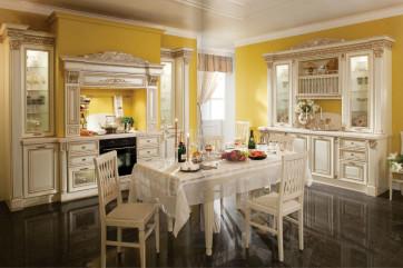 Преимущества итальянских кухонь из массива дерева