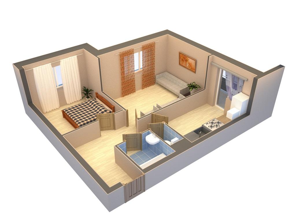Проект перепланировки квартиры цена для однокомнатной