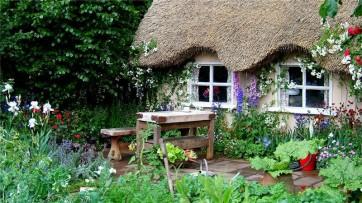 Как оформить сад в стиле кантри