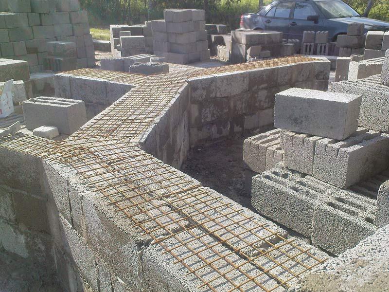 Фундамент своими руками для дома из шлакоблока 245
