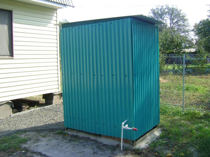 Построить душ на даче своими руками видео