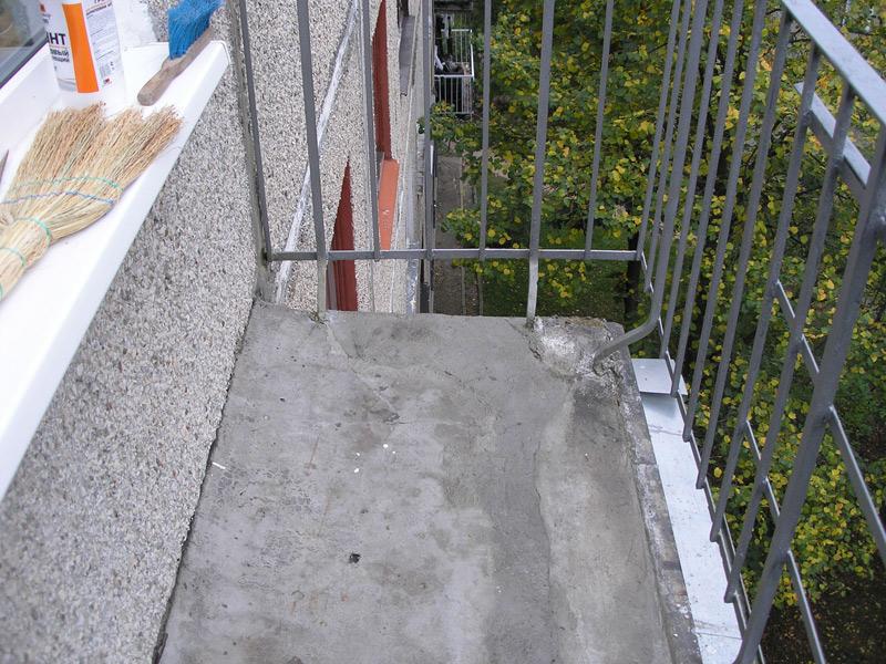 Как сделать пол на открытом балконе своими руками видео