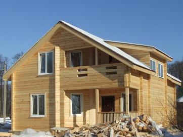 Процесс строительства дома на основе профилированного бруса
