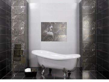Керамическая плитка отличное решение для ванной комнаты