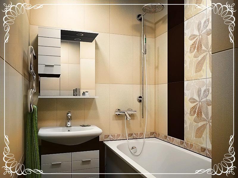 Дизайн ванной комнате в квартире