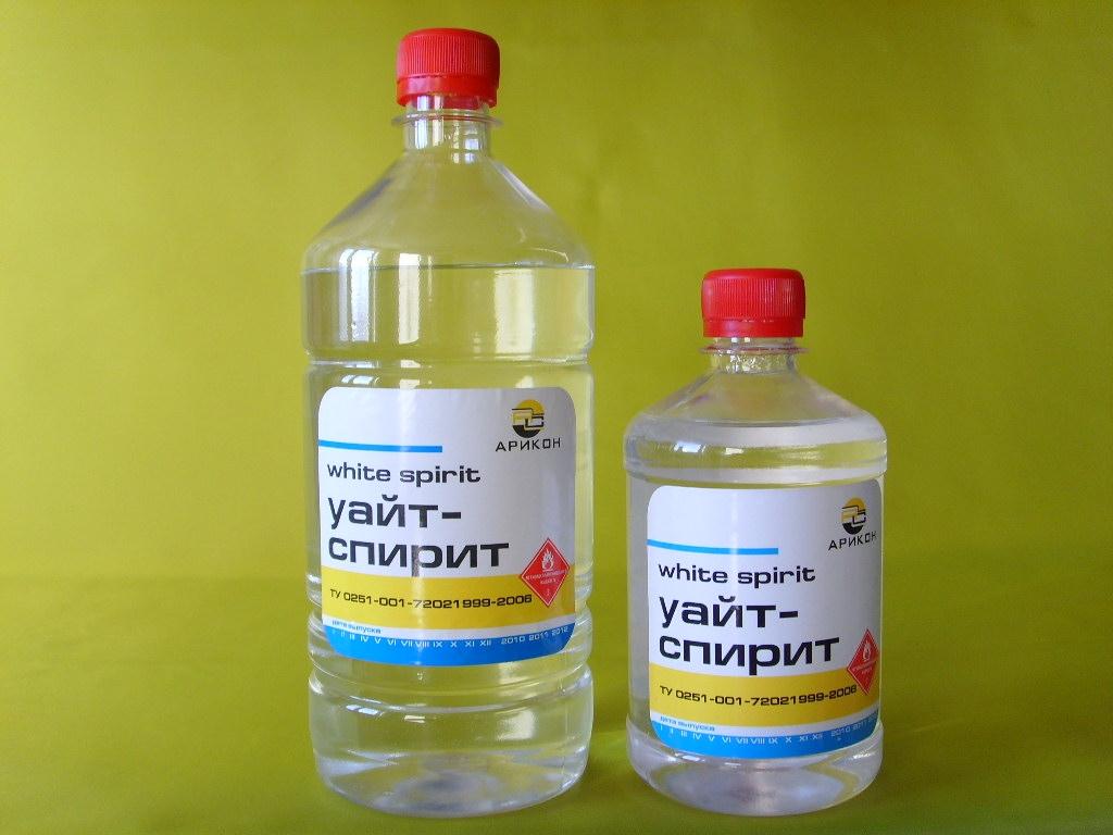 Применение уайт-спирита для удаления герметика